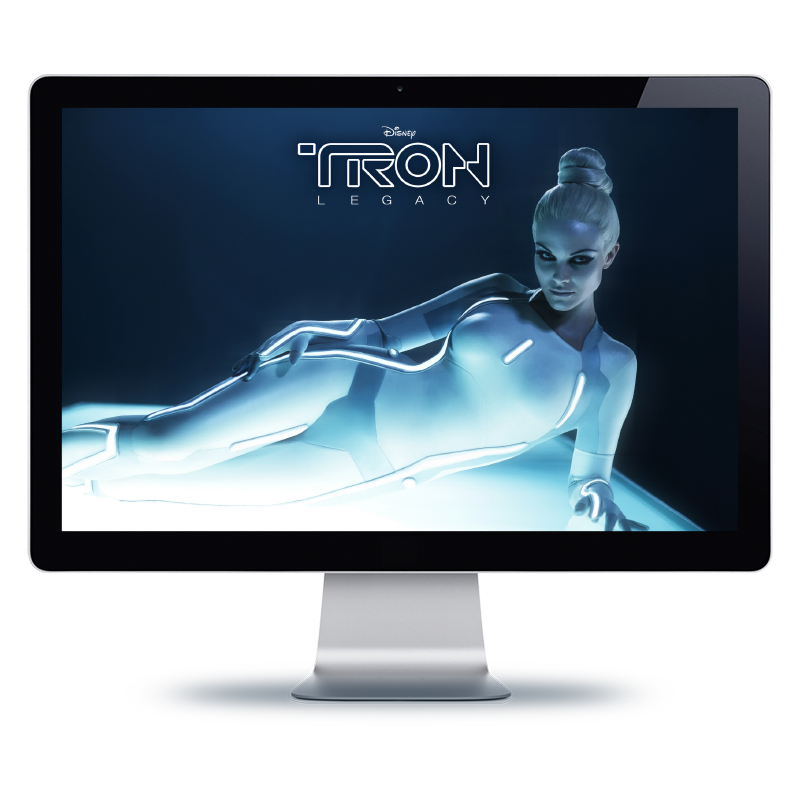 Bernhard Media creative micro sites web site Tron Disney design