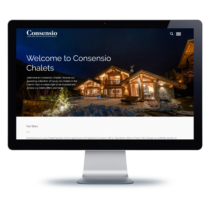 Bernhard Media Consensio Chalets creative web site design