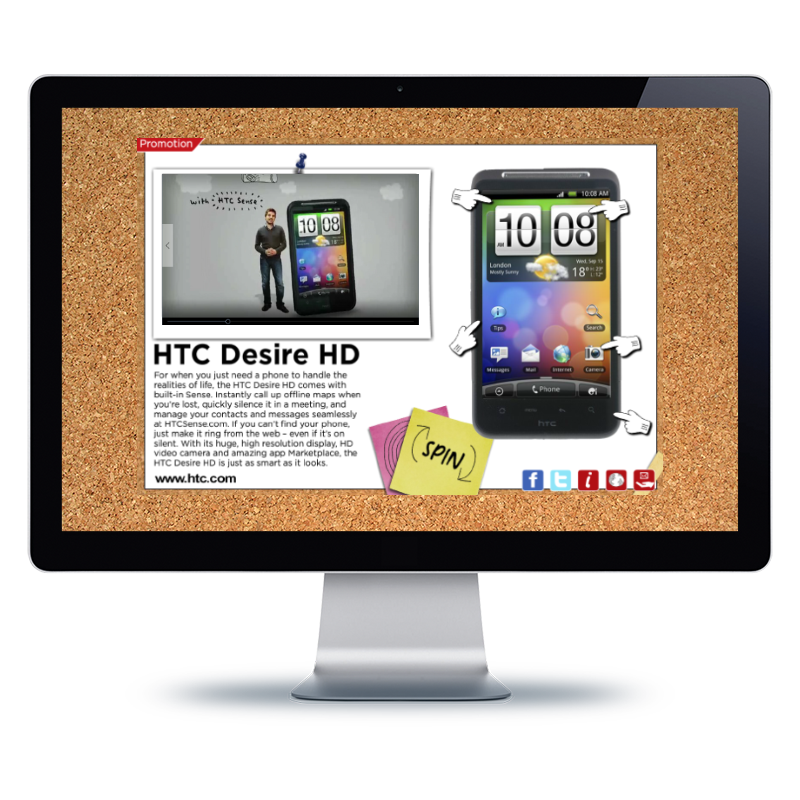 Bernhard Media Creative HTC web site design